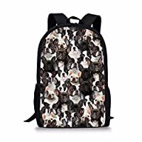 Coloranimal Cute 3D Dog Printing Backpack Kids Girls School Bookbags