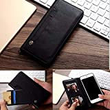 ClickCase™ for Moto Z2 Play Flipper Series Leather Wallet Flip Case Kick Stand with Magnetic Closure Flip Cover for Motorola Moto Z2 Play (Black)