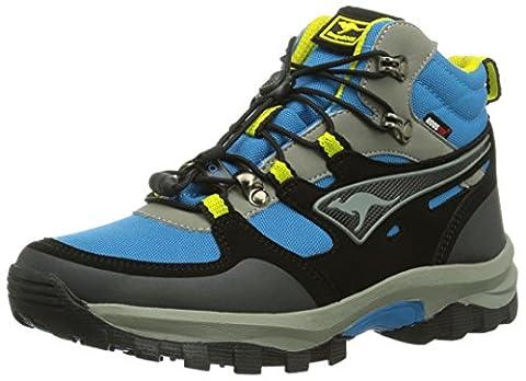 KangaROOS Sentry Mid Kids, Jungen Trekking- & Wanderhalbschuhe, Blau (blue/acid yellow 476), 36 EU