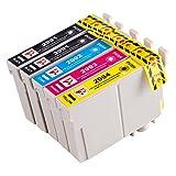PerfectPrint Compatible Tinta Cartucho Reemplazo Para Epson XP-235 332 335 432 435 T2996 (Negro/Cian/Magenta/Amarillo, 5-Paquete)