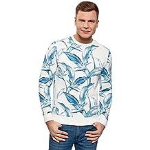 oodji Ultra Hombre Suéter con Estampado Floral gCBAkVEC