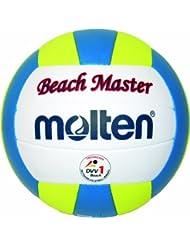 Molten  Beachvolleyball Molten Beachvolleyball MBVBM BeachMaster, Weiß/Blau/Gelb, 5, MBVBM