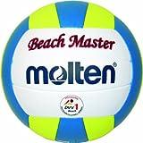 Molten Beachvolleyball MBVBM BeachMaster, Weiß/Blau/Gelb, 5