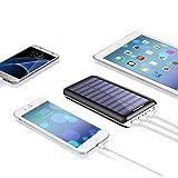 Solar Ladegerät,Akku mit 3 USB Ausgangen - 5