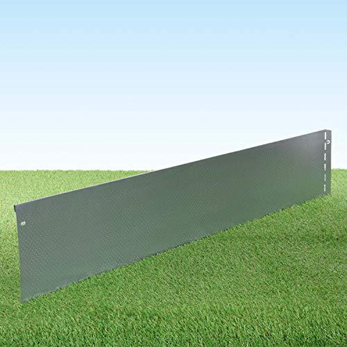 GartenAZ Rasenkante aus Metall - 7182 - Stahlblech feuerverzinkt mit Perlenstruktur - 103 x 20 cm, Nutzlänge 15 m
