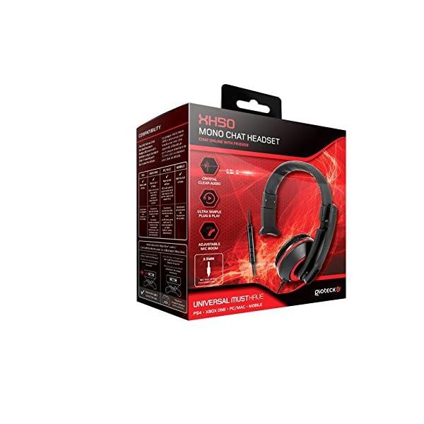 Gioteck Xh50 Micro Casque Mono Chat Pour Iphoneipadxboxps4pc