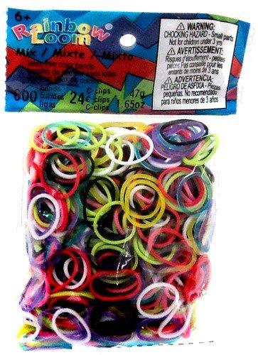 2mxdj Offizielle Rainbow Webstühlen Mix Jelly Band (Rubber Band Refill-kits)