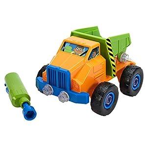 Learning Resources- Set de construcción de vehículos con Herramienta eléctrica Design & Drill camión volquete, Color (EI-4129)