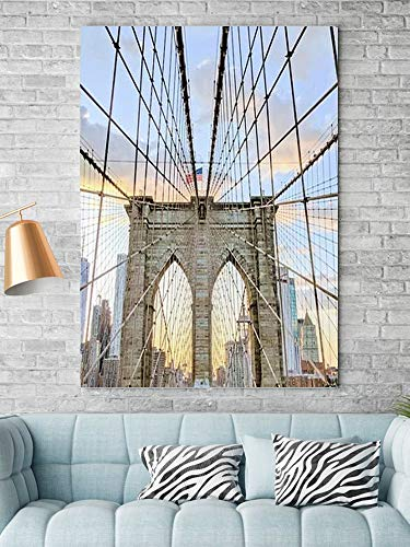 Tipolitografie Ghisleri Keilrahmen Senza-cornice-70x100-canvas-pxbay-newyork-city-ponte-brooklin