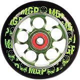 MADD MGP AERO ALU SCOOTER WHEEL / RAD / ROLLE / 100 mm / 90 A green lime / grün
