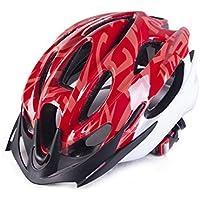 Flowerrs Casco Scooter Hombres Mujeres ventilación porosa Casco de Bicicleta de montaña de una Pieza Casco de Bicicleta (Rojo) Skate Helmet