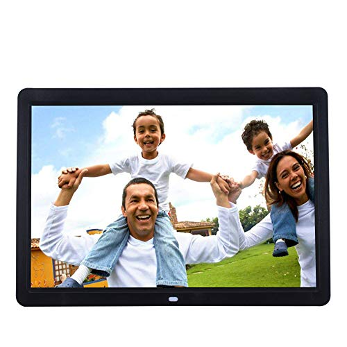JIANGYE 17 Zoll IPS High Resolution Widescreen Digital Photo Frame 1440 * 900 Support MP3 MP4 Videos Pictures Player mit Kalenderfunktion Fernbedienung Front Speaker Camera Mp3 Mp4 Video