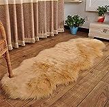 NUO-Z Schaffell-Teppich-weicher flaumiger Wolldecke-Shaggy Wolldecken-Fußboden-Teppich für Wohnzimmer Schlafzimmer-Dek