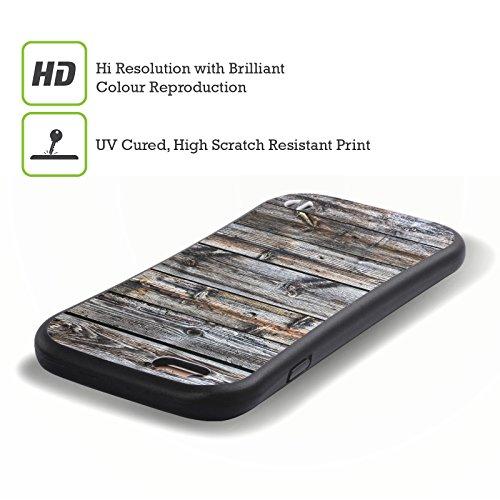 Ufficiale Nicklas Gustafsson Materiale Naturale Strisce 4 Texture 4 Case Ibrida per Apple iPhone 7 Plus / 8 Plus Legno Stagionato