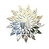 ZouLong 3D DIY Kreise Wandaufkleber Dekoration Spiegel Wandaufkleber für TV Hintergrund Wohnkultur Acryl Decor Wandkunst