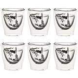 Levivo doppelwandiges Espressoglas, 80 ml, mundgeblasene Thermo-Gläser, hitzebeständig, Handgefertigt, Kratzfest und spülmaschinengeeignet, 6er-Set