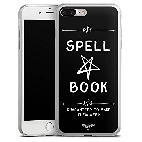 Apple iPhone 8 Plus Slim Case Silikon Hülle Schutzhülle Halloween Zauberbuch Pentagramm Silikon Slim Case transparent
