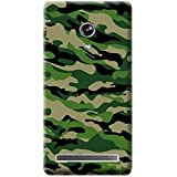 Bloody Branded Back Case For Asus Zenfone 6 | Asus Zenfone 6 Back Cover | Asus Zenfone 6 Back Case - Printed Designer Hard Plastic Case - Camouflage Theme(Green & Army Green)