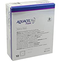 AQUACEL Ag Foam adhäsiv 10x10 cm Verband 10 St Verband preisvergleich bei billige-tabletten.eu