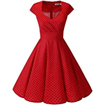 dcc114571ac0c Bbonlinedress Vestido Corto Mujer Retro A os 50 Vintage Escote En Pico