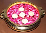 #5: Suryashvi Decorative Brass Urli Bowl for Traditional Decoration during festivals- Traditional Flower Floating Pot - Antique Brass Handicraft - Home Decor Center piece - Showpiece - For Traditional Decor, House Warming Gift, Religious Gifts - 10 inch diameter