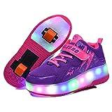 Wasnton Kinderschuhe LED Roller Skate Schuhe Rollen Schuhe Sportschuhe Laufschuhe Kinder Jungen M?dchen mit 2 R?dern Sneakers f¨¹r Kinder Jugend Roller Sneakers