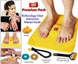 Acupressure Power Mat with Magnets n Pyramids for Pain Relief & Total Health Care Useful for Heel Pain - Knee Pain - Leg Pain - Sciatica - Cramps - Migraine - Depression With Acupressure Health Care Products - Freebies (Premium) BY ESCOR Byzantine International Private Limited -- 'Super INDIA Store'