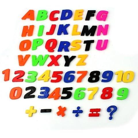 Pinzhi 52x Alfabeto Letras Números Imán Juguete Educativos para Ninos Aprendizaje