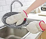 KEKE-HOME Küchenhausarbeit Reinigung Geschirr Artefakt super niedlich Bambusfaserhandschuhe wasserdicht plus Samt verletzt Handöl nicht