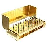 ILS - 30 pezzi lucidatura diamantati teste bave disinfezione diamanti manipoli ad alta velocità