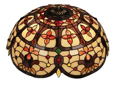 Tiffany-Hängelampe Jessamine, Deckenfluter von Oaks Lighting bei Lampenhans.de