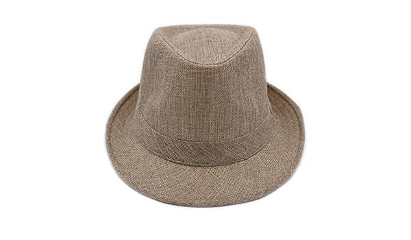 Cappelli uomo  cappello estivo a breve tesa Berretti visiera  cappello  estivo di lino traspirante cappello signore di mezza età all aperto-F Unica   ... 8da278cfe83d