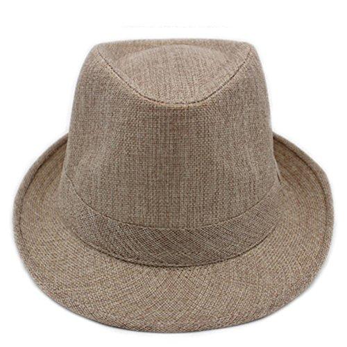 Chapeaux pour hommes/ chapeau à larges bords court été/Visière casquettes/ linge respirante chapeau d'été/Moyen-âge chapeau gentleman extérieur F