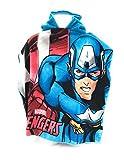 Poncho de bain - Cape de Bain - microfibre 100% Polyester - 110x55 cm - Avengers - Marvel - Captain américa - Ironman