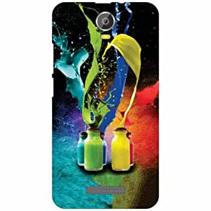 Micromax Canvas Juice 2 Back Cover - Silicon Splash Of Colors Designer Cases