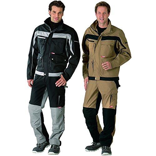 CANVAS Arbeitsjacke Bundjacke Berufskleidung grün/schwarz PLALINE Jacke Gärtner sand/schwarz