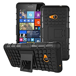 Accessories Collection Microsoft Lumia 535 - Stylish Hard Back Armor Shock Proof Case with Back Stand Feature & Free Screen Protector
