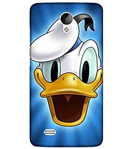 For Vivo Y21L Cartoon, Blue, Cartoon and Animation, Printed Designer Back Case Cover By CHAPLOOS