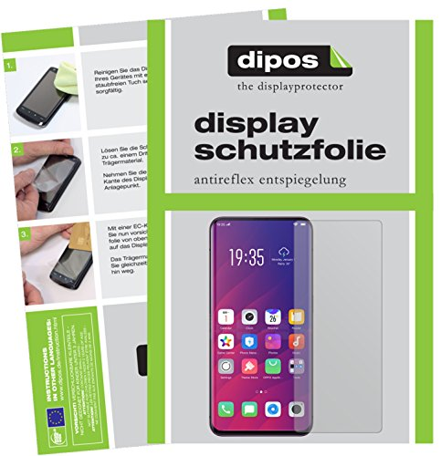 dipos I 6X Schutzfolie matt passend für Oppo Find X Folie Bildschirmschutzfolie