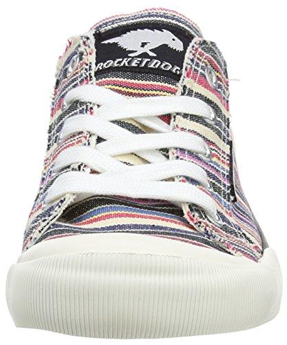 Rocket Dog Jazzin, Sneaker a Collo Basso Donna Multicolour (Roads Natural Multi)
