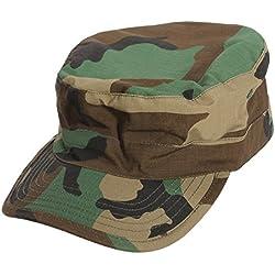 SODIAL(R) Ejercito Militar Urbano Visera Cap Mens Senora Sombrero Camo camuflaje selva beisbol - Woodland Camo