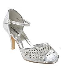 Zapatos de Noche para Mujer con Correa al Tobillo para Fiesta de  graduación ca1abd2b9ebc