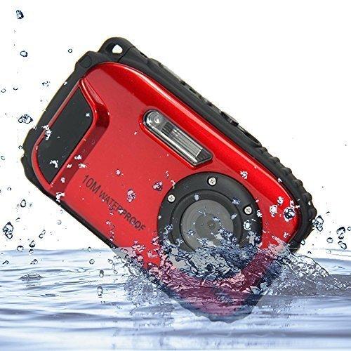 Wasserdichte Kameras (PowerLead 2.7 Zoll LCD-Kameras 10m Wasserdichte Kamera 16MP Digitalkamera Unterwasser + 8x Zoom)