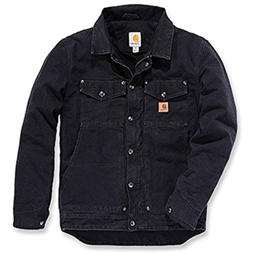 Berwick Jacket Carhartt Black Sandstone Größe L Jacke Winterjacke Schwarz 101230 Herren