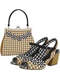 ea844a1facd Ruby Shoo Women s Hera Peeptoe Sandals   Matching Mendoza Bag Yellow