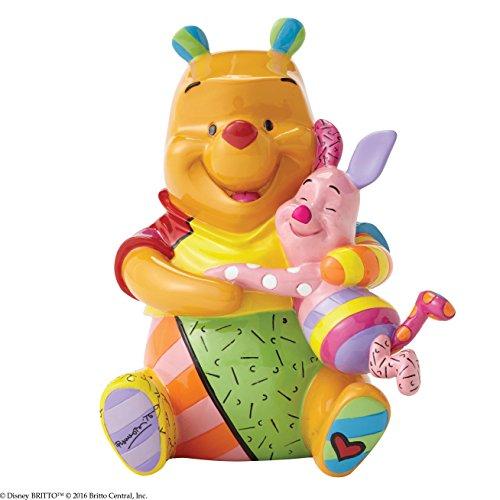Enesco Disney By Romero Britto Winnie The Pooh e Pimpi Figurina, Ceramica, Multicolore, 12x14x16 cm