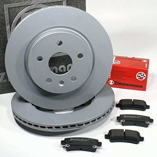 Zimmermann Disco Ø 315mm Coat Z/Freni ventilato + pastiglie freno per posteriore/Die assale posteriore