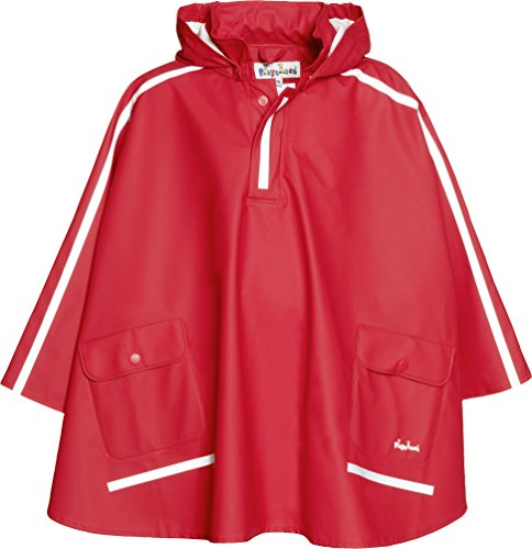 Playshoes Kinder Regencape, leichter Regenponcho, mit extra langem Rücken und abnehmbarer ()