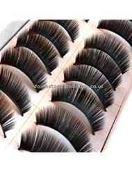 10 Pairs False Fake Eyelashes Extensions Makeup Thick 017 by 5starwarehouse