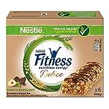 Nestlé Fitness Delice Barretta Cereali Cioccolato al Latte e Gusto Nocciola - 135 gr [6 barrette]